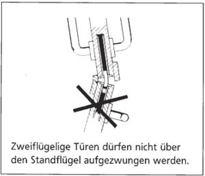 Zweiflügelige Türen